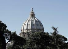 圣皮特圣徒・彼得罗马教皇的大教堂圆顶  库存照片