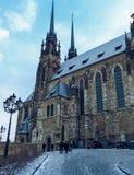 圣皮特圣徒・彼得著名教会在布尔诺 库存图片