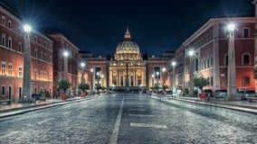 圣皮特圣徒・彼得` s大教堂在罗马 免版税库存图片