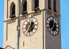 圣皮特圣徒・彼得` s教会哥特式大教堂,慕尼黑,巴伐利亚 免版税库存图片