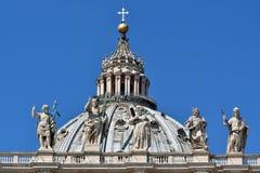 圣皮特圣徒・彼得` s正方形圆顶  库存图片