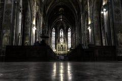 圣皮特圣徒・彼得和保罗大教堂内部的可怕HDR照片在布拉格 免版税库存照片
