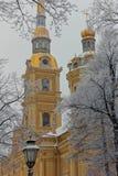 圣皮特圣徒・彼得和保罗大教堂在圣彼德堡,俄罗斯 库存图片