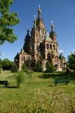 圣皮特圣徒・彼得和保罗大教堂在Peterhof 免版税库存图片
