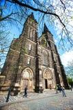 圣皮特圣徒・彼得和保罗大教堂Vysehrad的在布拉格,捷克 免版税库存图片