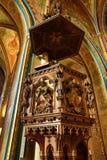 圣皮特圣徒・彼得和保罗教会的内部VyÅ ¡ ehrad的,布拉格,捷克 免版税图库摄影