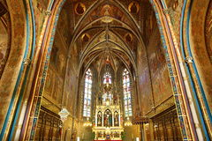 圣皮特圣徒・彼得和保罗教会的内部VyÅ ¡ ehrad的,布拉格,捷克 免版税库存图片