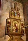 圣皮特圣徒・彼得和保罗教会的内部VyÅ ¡ ehrad的,布拉格,捷克 免版税库存照片