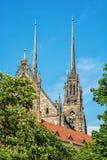 圣皮特圣徒・彼得和保罗著名大教堂在布尔诺,摩拉维亚,捷克r 免版税库存图片