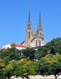圣皮特圣徒・彼得和保罗,捷克,欧洲大教堂  图库摄影