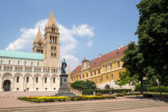 圣皮特圣徒・彼得和圣保罗大教堂在佩奇匈牙利 免版税图库摄影