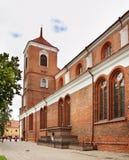 圣皮特圣徒・彼得和圣保罗大教堂大教堂在考纳斯 立陶宛 免版税库存照片