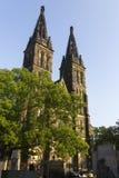 圣皮特圣徒・彼得和圣保罗大教堂有伴生的历史的公墓的 免版税库存照片