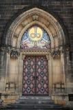 圣皮特圣徒・彼得和圣保罗大教堂的门  免版税库存照片