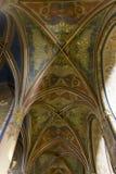 圣皮特圣徒・彼得和圣保罗教会的被绘的天花板  库存图片