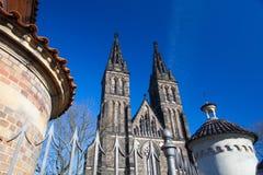 圣皮特圣徒・彼得和圣保罗,布拉格大教堂  图库摄影
