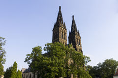 圣皮特圣徒・彼得和圣保罗, Vysehrad,布拉格大教堂  库存照片