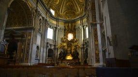 圣皮特圣徒・彼得在梵蒂冈的` s大教堂在罗马意大利 图库摄影