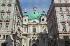 圣皮特圣徒・彼得天主教在维也纳在维也纳 库存照片