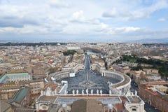圣皮特圣徒・彼得广场。 免版税图库摄影