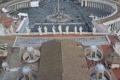 圣皮特圣徒・彼得广场。 免版税库存照片