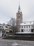 圣皮特圣徒・彼得教会在苏黎世 库存图片
