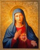 从圣皮特圣徒・彼得教会的维也纳-玛丹娜油漆或Peterskirche利奥波德Kupelwieser 库存图片