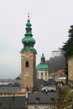 圣皮特圣徒・彼得的修道院教会 奥地利萨尔茨堡 图库摄影