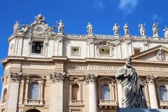圣皮特圣徒・彼得的大教堂在梵蒂冈 库存图片
