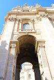圣皮特圣徒・彼得的大教堂在梵蒂冈 免版税库存图片