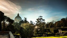 圣皮特圣徒・彼得的大教堂,罗马 图库摄影