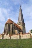 圣皮特圣徒・彼得的教会的外部在罗斯托克,德国 库存图片