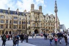 圣皮特圣徒・彼得皇家音乐学院在威斯敏斯特,伦敦 库存图片