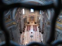 圣皮特圣徒・彼得罗马教皇的大教堂  库存照片