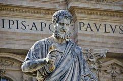圣皮特圣徒・彼得雕象  免版税库存图片