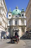 圣皮特圣徒・彼得维也纳奥地利巴洛克式的教会  免版税库存图片