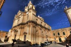 圣皮特圣徒・彼得&保罗大教堂的HDR照片在市姆迪纳,在马耳他 库存照片