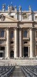 圣皮特圣徒・彼得(梵蒂冈、罗马-意大利),垂直的全景部分 免版税库存图片