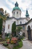 圣皮特圣徒・彼得` s公墓在萨尔茨堡,奥地利 免版税库存图片