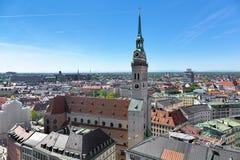 圣皮特圣徒・彼得` s教会在慕尼黑,德国 免版税图库摄影