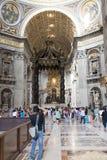 圣皮特圣徒・彼得s大教堂,梵蒂冈,罗马内部  库存图片