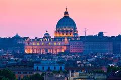 圣皮特的大教堂,梵蒂冈。 库存照片