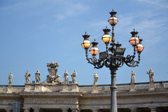 圣皮特的广场在梵蒂冈 图库摄影