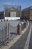 圣皮特的广场在梵蒂冈 免版税图库摄影
