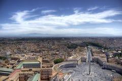 圣皮特的广场在梵蒂冈 免版税库存照片