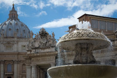 圣皮特的广场,梵蒂冈 库存图片