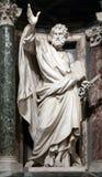 圣皮特雕象传道者 免版税库存图片