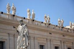 圣皮特雕象在梵蒂冈 库存图片
