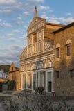 圣米尼亚托Al Monte教会的门面  库存图片