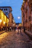 圣米格尔德阿连德,墨西哥在晚上 库存照片